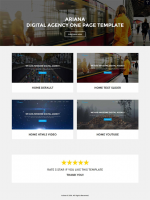 Ariana – Digital Agency One Page Joomla Theme (Joomla)
