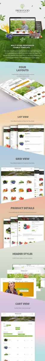 Fresh Food – Joomla Template for Organic Food/Fruit/Vegetables (Joomla)