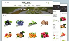 Fresh Food – Joomla Template for Organic Food/Fruit/Vegetables (Joomla)